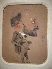 DESSIN ORIGINAL Eugène Pierre Fr. GIRAUD (1806-1881) CARICATURE