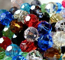 30pcs 12mm Faceted Round Crystal Beads - Mixed