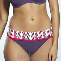 Fantasie Swimwear Dublin Fold Top Bikini Briefs/Bottoms Plum 5452 Select Size