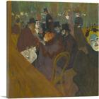 ARTCANVAS At the Moulin Rouge 1895 Canvas Art Print by Henri De Toulouse-Lautrec