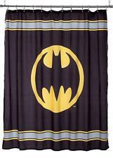 Warner Bros. DC Comics Batman Fabric Shower Curtain Bath Black Bat Yellow Gray