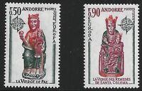 French Andorra Scott #232-33, Singles 1974 Complete Set FVF MNH