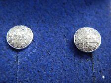 DiamondStud Earrings in Platinum Overlay Sterling Silver 0.335 Ct.