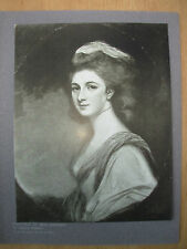 VINTAGE 1912 PRINT - PORTRAIT OF MISS HARFORD By GEORGE ROMNEY