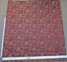 BY YD LEE JOFA BUTTERMERE SILK CHINOISERIE BIRD FLORAL BRICK RED MSRP $298/Y