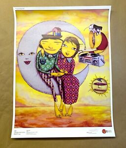OS GEMEOS MOON BATH Art Print Poster You Are My Guest other side close encounter