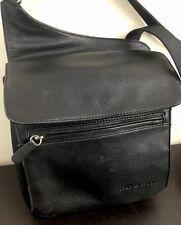 FOSSIL Crossbody Shoulder Traveler Bag Built In Wallet Organizer Leather Black
