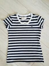 Burberry Ladies Girls Stripes Marine Soft Cotton  T-Shirt Top Size XS Fab!