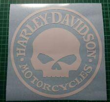 Harley Davidson Aufkleber weiss rund