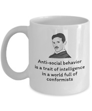 Science Physics coffee mug - Scientist Physicist Nikola Tesla inventor quote cup