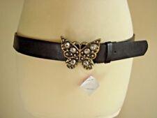 Patternless Glitter Belts for Women