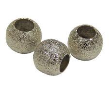 10 Metallperlen Spacer Rondell Stardust 10mm Zwischenperlen Schmuck Basteln M159