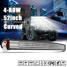 10D 4Row 52Inch 3000W LED Light bar Curved Combo Spot Flood off road For Ford 50
