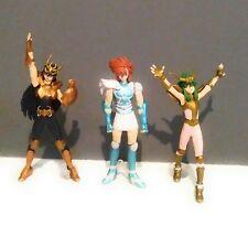 """Saint Seiya Figures (Set of 3) Dragon Shiryu, Andromeda Shun, & Cygnus Hyoga 4"""""""