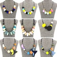 Fashion Jewellery Girls Multi-Coloured Beads Chucky Statement Necklace for Women