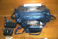 JVC (GR-AXM300) Compact VHS Black Camcorder w/ Picture Stabilizer & Case Bundle