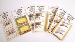 VINTAGE HOME CANNING LABELS PACKAGING STICKERS 7 SEALED PKGS CHRISTMAS ETC