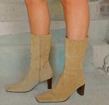VINTAGE Gortz 17 Rock Chic Western Studded Retro Suede Boots 41