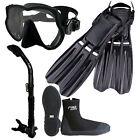 Scuba Dive Frameless Mask Snorkel Boots Fins Gear Set