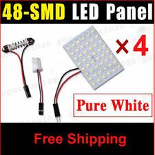 4x 48 LED Lights Panel Interior T10 Festoon Dome Door Map Bulb Xenon White 6000K