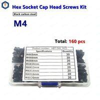 M4 Allen Hex Socket Head Cap Screws Assortment Kit  quantity 160pcs