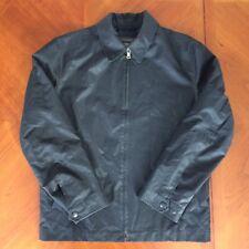 Banana Republic PVC Polyurethane Coated Black Full Zip Jacket Men's Medium