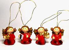 Miniatur Engel mit Aufhänger im Set, Weihnachtsdeko, Baumschmuck