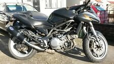 CAGIVA RAPTOR 1000 (2000-2005) Black oval Single Outlet ROAD LEGAL MTC Exhausts