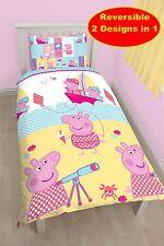NUOVO PEPPA PIG NAUTICO PIUMINO SINGOLO Quilt cover set di biancheria da letto per bambini Camera da Letto