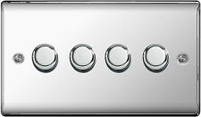 BG Nexus NPC84P Dimmer Switch 4 Gang 2 Way 400W (Polished Chrome)