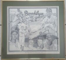 1955 Brooklyn Dodgers Artist Signed & Numbered LTD Edition Lithograph ( Ted Watt