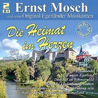 ERNST MOSCH&EGERLÄNDER MUSIKANTEN  - DIE HEIMAT IM HERZEN 50 TITEL-2 CD NEU