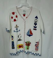 QUACKER FACTORY LADIES BUTTON DOWN SWEATER NWOT SIZE 1X