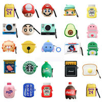 For Apple AirPods Pro 3 2 1 Silicone 3D Case Shockproof Cute Cover with Keychain