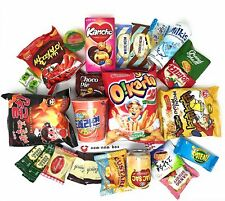Genuine Korean Snack Box (25 Count) Variety Assortment of Korean Snacks Chips
