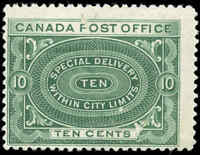 Canada Mint NH 1898 F Scott #E1 10c Special Delivery Stamp