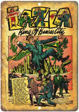 "Johnny Lazia Kansas City Mafia Comic Art 10"" X 7"" Reproduction Metal Sign J329"