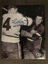 """Red Kelly """"HOF 69"""" Autograph 8x10 Signed Photo w/ Beckett COA Detroit Red Wings"""