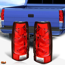 For 88-00 Chevy C/K Pickup Altezza Euro Tail Light Rear Stop Lamp Red/Clear Lens (Fits: Cadillac)