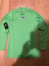 Nike Nfl Seattle Seahawks Player Therma Training Top White Sz L Bnwt 871674-308