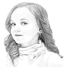 Custom Portrait Pencil Drawing From Photograph. Hand-drawn Black&white