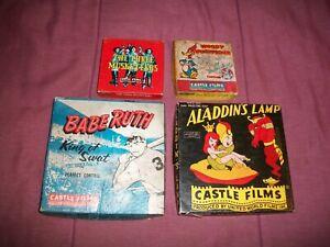 VINTAGE  8 MM  CASTLE  FILMS  -  lot of 4 -  LQQK!!!