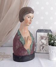 Schaufensterdekoration Art Deco Büste Vintage Frauenkopf Schmuckkopf