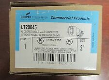 COOPER CROUSE HINDS 45 Degree Male Elbow Connector LT20045