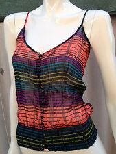 BNWT 100% silk cami WISH sz10 Moscow stripe singlet top boho festival 70s RRP$90