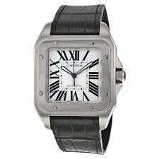 Cartier Santos 100 Steel Automatic Large Mens Watch W20073X8
