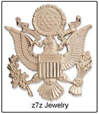 AMERICAN EAGLE Lapel Pin - US Army visor cap emblem badge gold military  z7qq