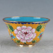 Chinese Cloisonne Hand-made Flowers Bowl