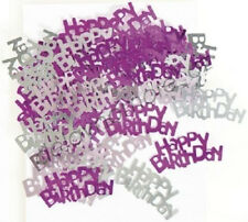 GLITZ PINK HAPPY BIRTHDAY CONFETTI PARTY SUPPLIES TABLE LOOT DECORATION SCATTERS