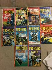 Two-Fisted tales 3,4,5,6,7,8,9,11,15,16 a 10 issue lot all NM or better